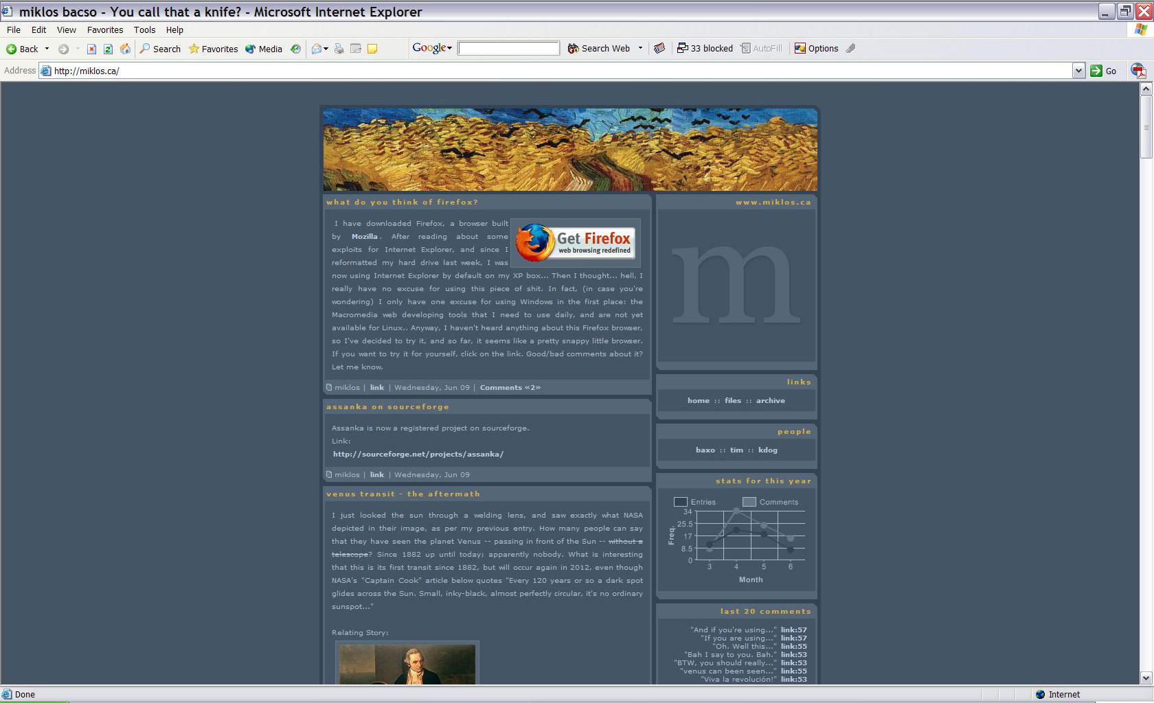 Screenshot from 2004